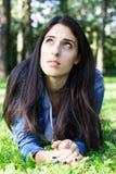 Заботливая молодая женщина стоковое изображение
