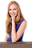 Заботливая счастливая молодая женщина Стоковые Фотографии RF