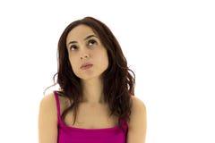 Заботливые глаза молодой женщины стоковое фото