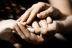 заботливые руки Стоковые Фото
