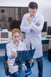 Заботливые умные доктора работая совместно Стоковое Изображение RF
