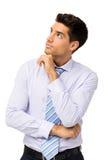 Заботливый бизнесмен смотря вверх стоковые фотографии rf