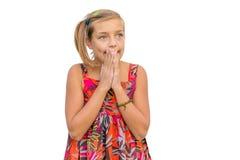 Заботливый возбужденный ребенок Стоковое Изображение