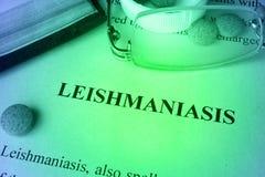 Заболевание лейшманиоза стоковое фото