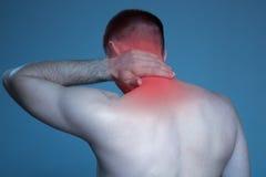 Заболевание концепции боль шеи стоковое фото