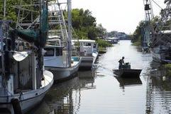 Заболоченный рукав реки Lafitte стоковое фото