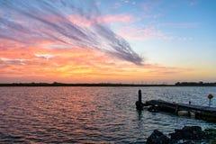 Заболоченный рукав реки Lafourche, Луизиана стоковая фотография rf