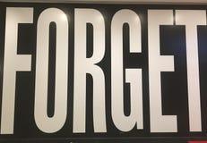 забудьте стоковое изображение rf