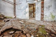 Забытый вековой особняк. Гданьск - Польша Стоковое фото RF