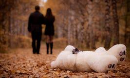 Забытый плюшевый медвежонок Стоковое Фото