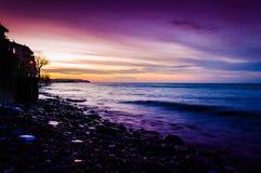 Забытьё захода солнца в море Marmara Стоковые Изображения RF
