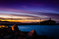 Забытьё захода солнца в море Marmara Стоковое фото RF