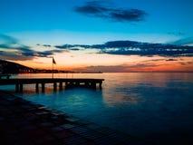 Забытьё захода солнца в море Marmara Стоковая Фотография