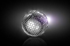 завальцовка диско cgi шарика иллюстрация вектора