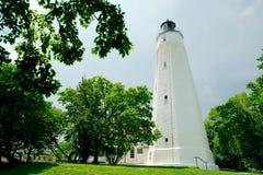 Заваривать шторма солнечного дня Нью-Джерси маяка крюка Sandy Стоковое Изображение