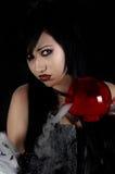 заварите готскую женщину ведьм Стоковая Фотография