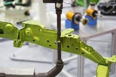 Заварка пятна производства автомобиля стоковое изображение rf