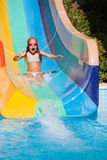 Завальцовка ребенк с waterslides Стоковое фото RF