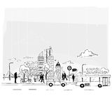 Заверните вектор в бумагу города Стоковая Фотография RF