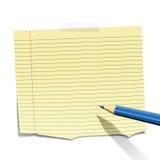 заверните липкое в бумагу Стоковое Изображение