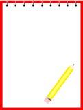заверните карандаш в бумагу иллюстрация штока
