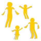 Заверните семью в бумагу Стоковая Фотография
