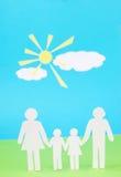 Заверните семью в бумагу Стоковые Фото