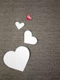 Заверните сердца в бумагу Стоковое Фото