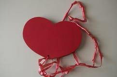 Заверните сердце в бумагу Стоковая Фотография RF