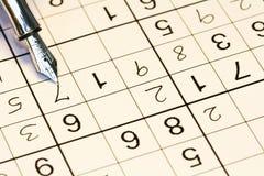 завершать sudoku Стоковое Изображение RF