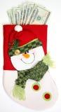 завершите вертикаль носка снеговика Стоковое Изображение