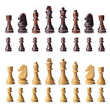 Завершите комплект шахмат Стоковое Изображение