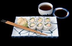 завершите японские суши стоковые изображения rf