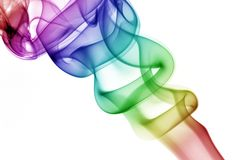завивая дым радуги Стоковые Фото