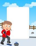 завивая фото девушки рамки бесплатная иллюстрация