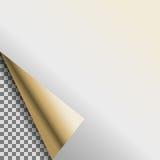 Завитая бирка серебряного белого вектора пробела фольги пустая Стоковые Изображения RF