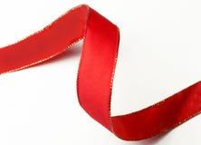 завитая красная тесемка Стоковое Изображение RF