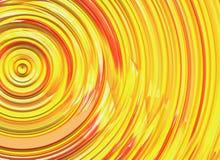Завитое яркое солнце излучает текстуру Стоковая Фотография