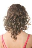 завитый стиль причёсок Стоковое Изображение
