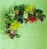 Завитый угол цветка Стоковые Изображения RF