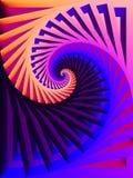завихряться голубых цветов розовый Стоковые Изображения RF