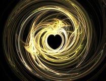 завихряться света сердца Стоковые Изображения