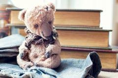 заводь детства цветет бабушка большая ее выбирать памятей Старая винтажная любимая handmade игрушка Стоковые Изображения