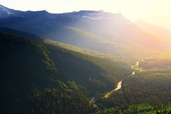 Заводь Logan на национальном парке ледника Стоковое Изображение RF