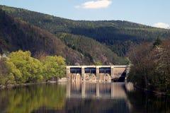 завод гидроэлектроэнергии Стоковая Фотография
