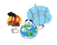 Завод и ветрянка угля Стоковые Изображения