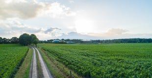 Завод лэндфилл-газа для производства электроэнергии и энергии стоковая фотография rf