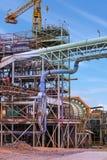Завод по обработке золотодобывающего рудника стоковое фото rf