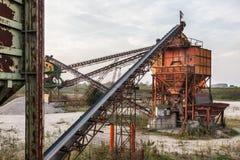 Завод реки драгируя Стоковая Фотография
