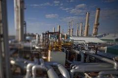 завод трубопровода для газа компрессора Стоковое Изображение RF